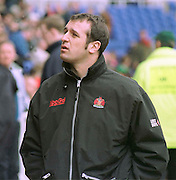 Reading. United Kingdom.   Rugby. England vLondon Irish vs Gloucester Rugby,  Gloucester coach, Phillip Saint Andre  [Mandatory Credit; Peter Spurrier/Intersport Images]