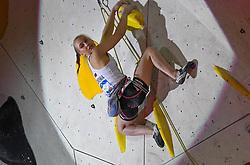25.06.2021, Kletterzentrum, Innsbruck, AUT, IFSC, Austria Climbing Open 2021, Damen, Vorstieg, Finale, im Bild Janja Garnbret (SLO) Siegerin // Janja Garnbret of Slovenia winner during the final of women Lead competition of the Austria Climbing Open 2021 at the Kletterzentrum in Innsbruck, Austria on 2021/06/25. EXPA Pictures © 2021, PhotoCredit: EXPA/ Erich Spiess