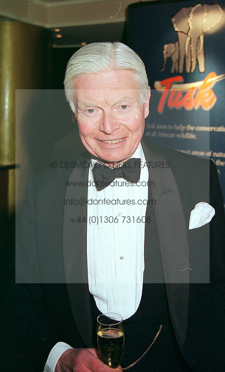 SIR CHRISTOPHER LEVER at a dinner in London on 17th February 2000.<br /> OBE 7