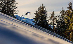 28.01.2017, Casino Arena, Seefeld, AUT, FIS Weltcup Nordische Kombination, Seefeld Triple, Skisprung, im Bild Johannes Rydzek (GER) // Johannes Rydzek of Germany in action during his Trail Jump of Skijumping of the FIS Nordic Combined World Cup Seefeld Triple at the Casino Arena in Seefeld, Austria on 2017/01/28. EXPA Pictures © 2017, PhotoCredit: EXPA/ JFK