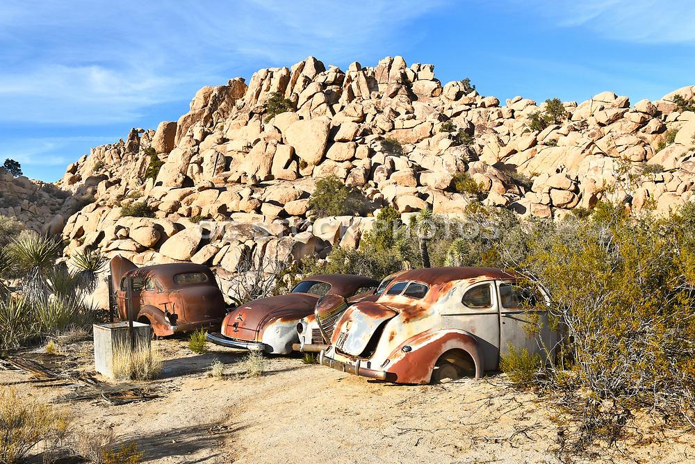 Junk Cars at Keys Ranch Joshua Tree National Park