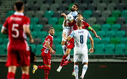 Miha Mevlja of Slovenia vs Igor Armas of Moldova during the UEFA Nations League C Group 3 match between Slovenia and Moldova at Stadion Stozice, on September 6th, 2020. Photo by Vid Ponikvar / Sportida