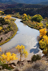 The Chama River in Abqiuiu, NM on a Fall day