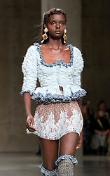 Models during the Mimi Wade Fashion East Autumn/Winter 2017 London Fashion Week show at the Topshop Show Space, Tate Modern, London. PRESS ASSOCIATION. Picture date: Saturday February 18, 2017. Photo credit should read: Isabel Infantes/PA Wire