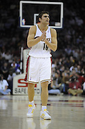 Wally Szczerbiak of  Cleveland during his first game in a Cavaliers' uniform.