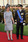 Religious wedding of Grand Duke Guillaume and Princess Stephanie at the Cathedral Notre-Dame in Luxembourg <br /> <br /> On the photo:  Prince Carl Philip and Princess Martha Louise of Norway