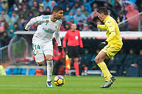 Real Madrid Carlos Henrique Casemiro and Villarreal Pablo Fornals during La Liga match between Real Madrid and Villarreal CF at Santiago Bernabeu in Madrid, Spain. January 13, 2018. (ALTERPHOTOS/Borja B.Hojas)