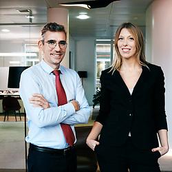 Olivier Casse et Giulia Culot dans les locaux de Generali Invest. Paris, France. 3 decembre 2019.