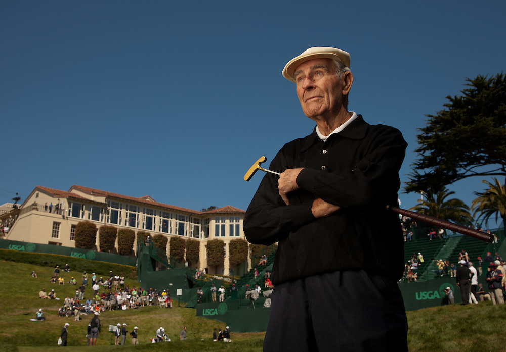 Jack Fleck poses for a portrait during Tuesday practice rounds at the 2012 U.S. Open at The Olympic Club in San Francisco, Calif. on Tuesday, June 12, 2012.  (Copyright USGA/Darren Carroll)