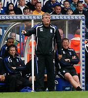 Photo: Steve Bond.<br />Birmingham City v West Ham United. The FA Barclays Premiership. 18/08/2007. Steve Bruce on the touchline