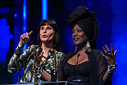 Brussels , 01/02/2020 : Les Magritte du Cinema . The Academie Andre Delvaux and the RTBF, producer and TV channel , present the 10th Ceremony of the Magritte Awards at the Square in Brussels .<br /> Pix: Laurence Bibot , dressed by Jean-Paul Lespagnard; Khadja Nin<br /> Credit : Alexis Haulot - Dana Le Lardic - Didier Bauwerarts - Frédéric Sierakowski - Olivier Polet / Isopix