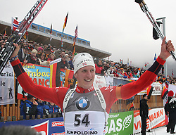 14.01.2011, Chiemgau Arena, Ruhpolding, GER, IBU Biathlon Worldcup, Ruhpolding, Sprint Men im Bild Sieger, Lars BERGER (NOR) // winner, Lars BERGER (NOR) during IBU Biathlon World Cup in Ruhpolding, Germany, EXPA Pictures © 2011, PhotoCredit: EXPA/ S. Kiesewetter