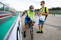 Eugenia Bujak of Slovenia and her husband Milosz Bujak after the Women Time Trial at UCI Road World Championship 2020, on September 24, 2020 in Imola, Italy. Photo by Vid Ponikvar / Sportida