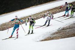 Kern Julia (USA), Ana Marija Lampic (SLO) and Hagstroem Johanna (SWE) during the Ladies sprint free race at FIS Cross Country World Cup Planica 2019, on December 21, 2019 at Planica, Slovenia. Photo By Grega Valancic / Sportida