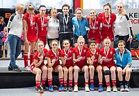 HAMBURG  (Ger) - Match 20,  for FINAL, LMHC Laren - Dinamo Elektrostal (Rus) (3-1).  Photo: team Dinamo with 2nd place .   Eurohockey Indoor Club Cup 2019 Women . WORLDSPORTPICS COPYRIGHT  KOEN SUYK