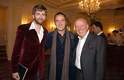 Left to right, actor DAVID TENNANT, ANGUS DEAYTON he is the TV presenter and actor RICHARD WILSON at a gala evening preview of Noel Coward's play Hay Fever in aid of Masterclass at The Theatre Royal, Haymarket, London on 26th April 2006.<br /><br />NON EXCLUSIVE - WORLD RIGHTS