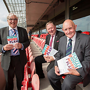 31.05.2018.          <br /> Limerick and Clare Education Training Board launch Youth Work Plan 2018-2021 at Thomond Park Limerick with Pat Breen TD, Minister of State with special responsibility for Trade, Employment, Business, EU Digital Single Market and Data Protection, Clare. <br /> <br /> Pictured at the event were, George O'Callaghan, LCETB, Sean McMahon and Cllr. Kieran O'Hanlon. Picture: Alan Place