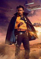 RELEASE DATE: May 25, 2018  TITLE: Solo: A Star Wars Story STUDIO: Lucasfilm DIRECTOR: Ron Howard PLOT: During an adventure into the criminal underworld, Han Solo meets his future co-pilot Chewbacca and encounters Lando Calrissian years before joining the Rebellion. STARRING: DONALD GLOVER as Lando Calrissian. (Credit Image: © Lucasfilm/Entertainment Pictures/ZUMAPRESS.com)