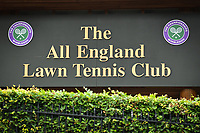Tennis - 2021 All-England Championships - Week One - Wimbledon<br /> <br /> A detail of the AELTC entrance.<br /> <br /> COLORSPORT/ASHLEY WESTERN