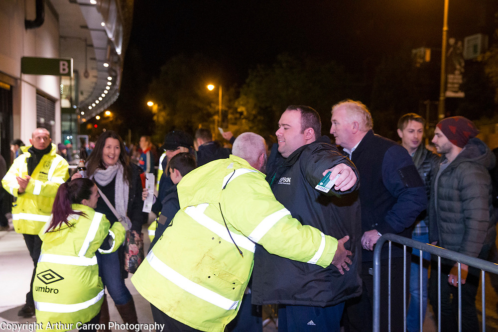 16/11/15 Security Checks at the European Championship play-off between Ireland and Bosnia at the Aviva Stadium in Dublin. Picture:Arthur Carron