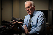 Thursday 21st January 2016, Aberdeen, Scotland. The North Sea Oil Crisis has lead to many job losses as the downturn continues in Europes oil capital Aberdeen.<br /> <br /> Pictured: Sir Ian Wood<br /> <br /> (Photo: Ross Johnston/Newsline Media)