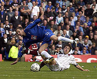 Copyright Sportsbeat. 0208 3926656<br />Picture: Henry Browne<br />Date: 11/05/2003<br />Birmingham City v West Ham United FA Barclaycard Premiership<br />Joe Cole of West Ham takes out City's Stephen Clemence