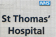 NH St Thomas' Hospital is photographed from the oustide where British Prime Minister Boris Johnson was moved to intensive care after his coronavirus symptoms worsened in London, Tuesday, April 7, 2020. Johnson was admitted to St Thomas' hospital in central London on Sunday after his coronavirus symptoms persisted for 10 days. Having been in the hospital for tests and observation, his doctors advised that he be admitted to intensive care on Monday evening. The new coronavirus causes mild or moderate symptoms for most people, but for some, especially older adults and people with existing health problems, it can cause more severe illness or death. (Photo/Vudi Xhymshiti)