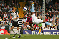 Photo: Frances Leader.<br />Fulham v West Ham. The Barlcays Premiership.<br />17/09/2005.<br />West Ham's Marlon Harewood atempts to score an overhead kick in the first half.