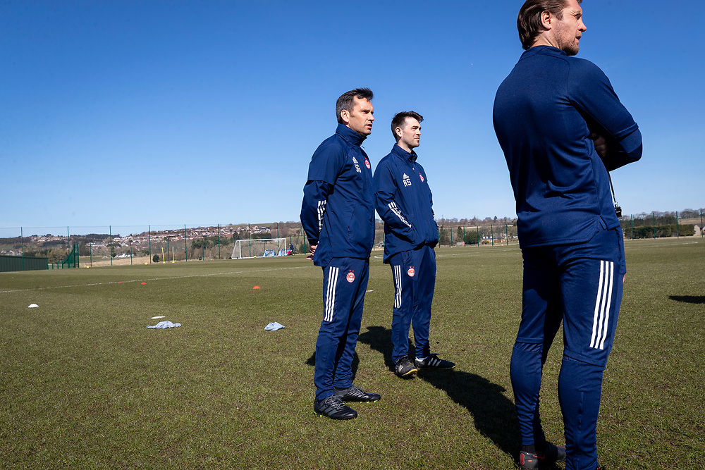 ABERDEEN FC TRAINING WITH NEW MANAGER STEPHEN GLASS AT CORMACK PARK<br /> <br /> PICTURE OF  Stephen Glass  AT TRAINING<br /> <br /> PIC DEREK IRONSIDE / NEWSLINE MEDIA