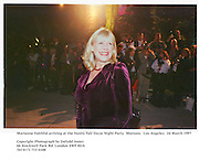 Marianne Faithful arriving at the Vanity Fair<br />Oscar Night Party. Mortons. Los Angeles.  24 March 1997<br />Copyright Photograph by Dafydd Jones<br />66 Stockwell Park Rd. London SW9 0DA<br />Tel 0171 733 0108
