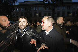 Italy, Milan - April 29, 2019.Right-wing groups demonstrate in honor of Sergio Ramelli of fascist party 'Fronte della Gioventù', killed in 1975..A woundend militant. (Credit Image: © Salmoirago/Fotogramma/Ropi via ZUMA Press)