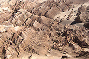 Ridges seen from above in Valle de la Luna, in Chile's Atacama desert, near San Pedro de Atacama
