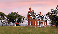 The Classic Dunkirk Lighthouse Overlooking Lake Erie At Dunkirk New York, USA, A Veterans Museum And Haunted Lighthouse Featuring Ghost Tours