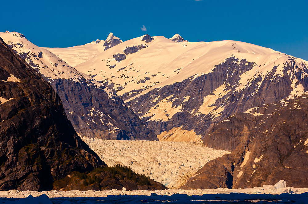 LeConte Glacier in LeConte Bay, between Petersburg and Wrangell in southeast Alaska, USA