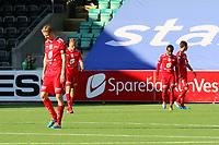 Tippeliga Fotball 20.Mai 2014. Eliteserie. Foto Christian Blom Digitalsport Sogndal - Brann. Erik Huseklepp, Kristoffer Barmen, Amin Askar, Andreas Vindheim Brann.