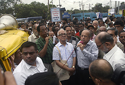 July 19, 2017 - Kolkata, West Bengal, India - Justice Ashok Kumar Ganguly (in middle) gives his speech during the peace and unity rally in Kolkata. A group of leftist intellectuals takes part in peace and unity rally on July 19, 2017 in Kolkata. (Credit Image: © Saikat Paul/Pacific Press via ZUMA Wire)