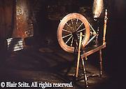 Spinning wheel, Conrad Weiser homestead, built in 1751, Berks Co., PA