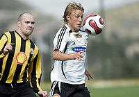Fotball / Football<br /> La Manga Cup 2007 - Spain<br /> 23.02.2007<br /> Rosenborg v KR Reykjavik Island 1-0<br /> Foto: Morten Olsen, Digitalsport<br /> <br /> Per Ciljan Skjelbred - RBK
