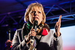 London, UK. 15th January, 2019. Anna Soubry, Conservative MP for Broxtowe, addresses pro-EU activists attending a People's Vote rally in Parliament Square as MPs vote in the House of Commons on Prime Minister Theresa May's proposed final Brexit withdrawal agreement.