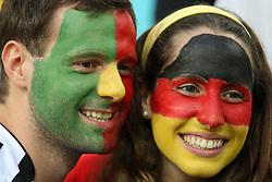 10-06-2012 VOETBAL: UEFA EURO 2012 DAY 3: POLEN OEKRAINE<br /> UEFA Euro 2012 Group B Match between Germany and Portugal at the Arena Lviv, Lviv, Ukraine / Support Germany and Portugal<br /> ***NETHERLANDS ONLY***<br /> ©2012-FotoHoogendoorn.nl