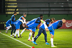 Players of NK Bravo warming up before football match between NŠ Mura and NK Bravo in 20th Round of Prva liga Telekom Slovenije 2019/20, on December 5, 2019 in Fazanerija, Murska Sobota, Slovenia. Photo by Blaž Weindorfer / Sportida