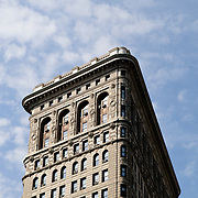 The back of the distinctive Flatiron Building in New York City