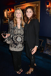 Left to right, KELLY McGILL Bo Derek's sister and SHEHKAR JAH at the launch of TAG Heuer's new Aquaracer in the presence of long term friend of the brand Bo Derek held at Tramp, Jermyn Street, London on 8th October 2013.