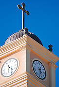 Israel, Jaffa, Church steeple and clock tower