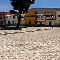 South America, Bolivia, Calamarca. The plaza of Calamarca.