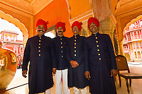 Palace Guards at the City Palace, Jaipur, Rajasthan, India