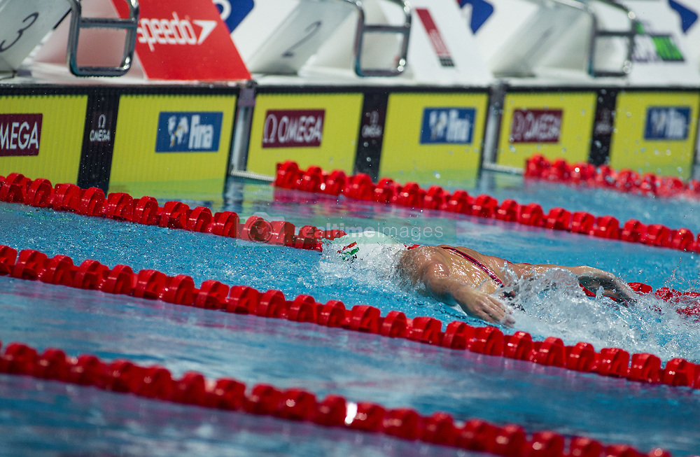 October 4, 2018 - Budapest, Hungary - Hosszu Katinka of Hungary competes in the Womens 200m Butterfly on day one of the FINA Swimming World Cup held at Duna Arena Swimming Stadium on Okt 04, 2018 in Budapest, Hungary. (Credit Image: © Robert Szaniszlo/NurPhoto/ZUMA Press)