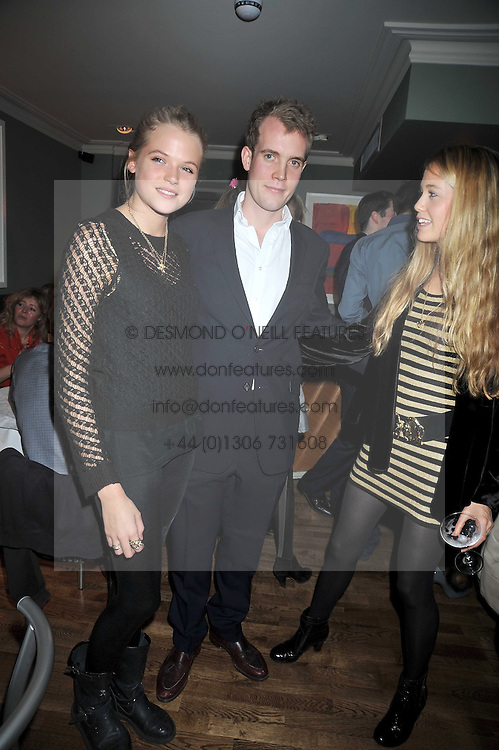 Left to right, GABRIELLA ANSTRUTHER-GOUGH-CALTHORPE, FRANCOIS O'NEILL and FLORENCE BRUDENELL-BRUCE at the opening of the Brompton Bar & Grill, 243 Brompton Road, London SW3 on 11th March 2009.