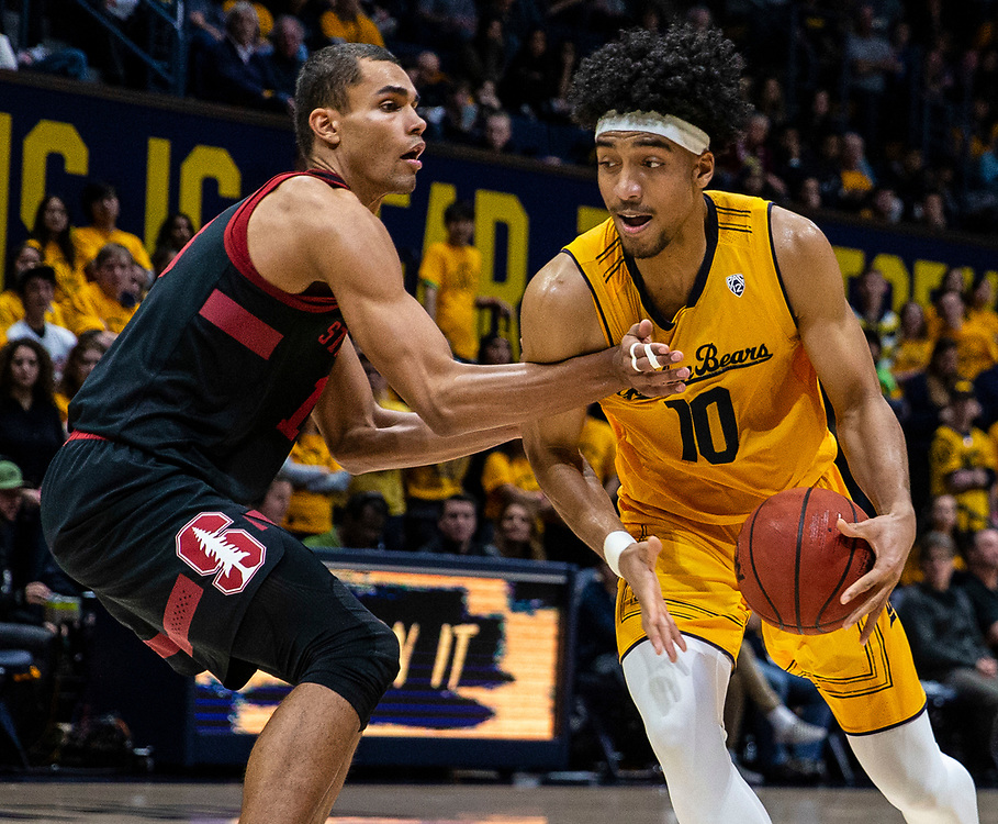 Feb 03, 2019 Berkeley, CA  U.S.A.  California forward Justice Sueing (10) drives to the basket during the NCAA Men's Basketball game between Stanford Cardinal and the California Golden Bears 81-84 lost at Hass Pavilion Berkeley Calif.  Thurman James / CSM
