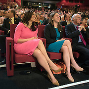 © Licensed to London News Pictures. 15/03/2015. Liverpool, UK.  Miriam Gonzalez Durantz, Jo Swinson, Vince Cable, during Nick Clegg's leaders speech. The Liberal Democrat Spring Conference in Liverpool 15th March 2015. Photo credit : Stephen Simpson/LNP